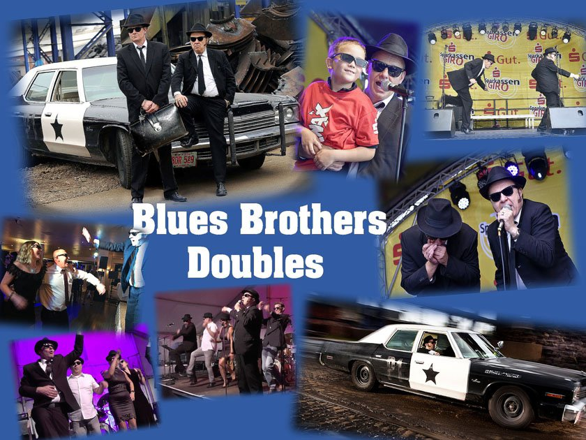 Blues Brothers Doubles Collage