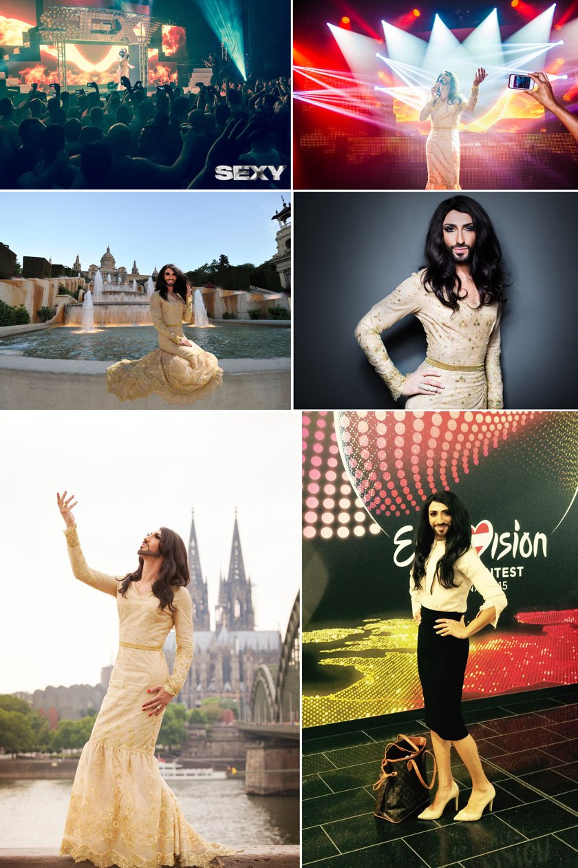 Conchita Wurst Double Collage 1