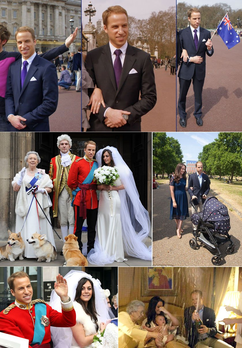Prince William & Kate Collage